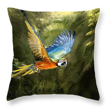 Throw Pillow featuring the photograph Amazon Beauty by Brian Tarr