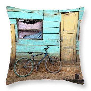 Amazon Street Scene Throw Pillow