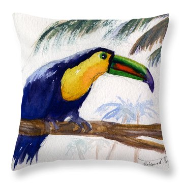 Amazonian Throw Pillow by Mohamed Hirji