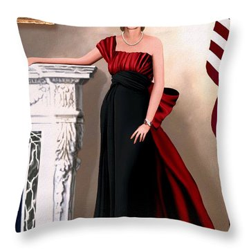 Throw Pillow featuring the painting Ambassador Kennedy by Jann Paxton