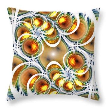 Amber Clusters Throw Pillow by Anastasiya Malakhova