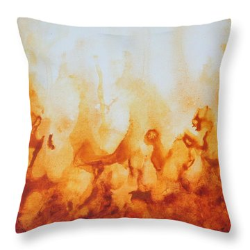 Amber Flame Throw Pillow