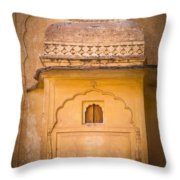 Amber Fort Birdhouse Throw Pillow by Inge Johnsson
