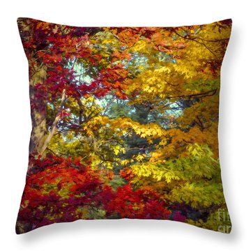 Amber Glade Throw Pillow