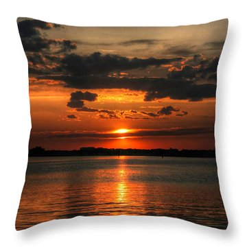 Amber Sunset Throw Pillow