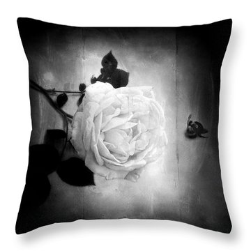 Ambridge English Rose Throw Pillow by Louise Kumpf