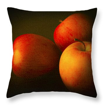 Ambrosia Apples Throw Pillow by Theresa Tahara