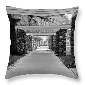 Throw Pillow featuring the photograph Ambuscade Along The Trellis Path by Tarey Potter