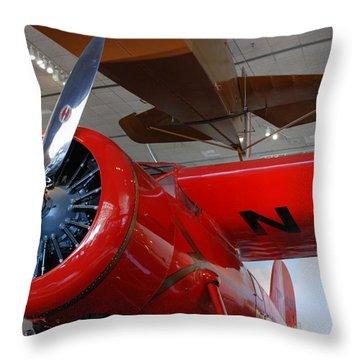 Amelia Earhart Prop Plane Throw Pillow