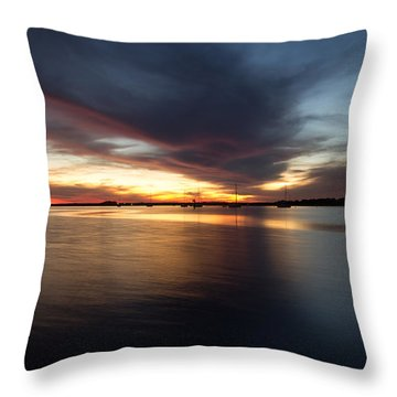 Amelia Island Sunset Throw Pillow by Wade Brooks