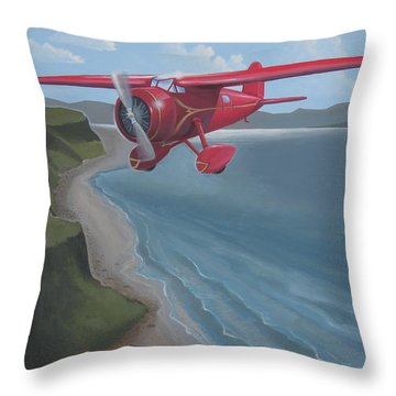 Amelia's Lockheed Vega Throw Pillow