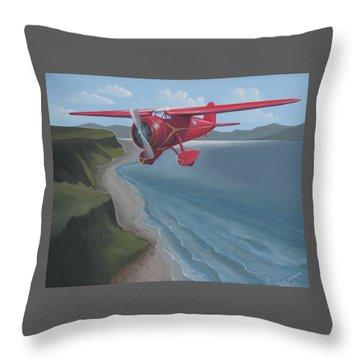 Amelia's Lockheed Vega Throw Pillow