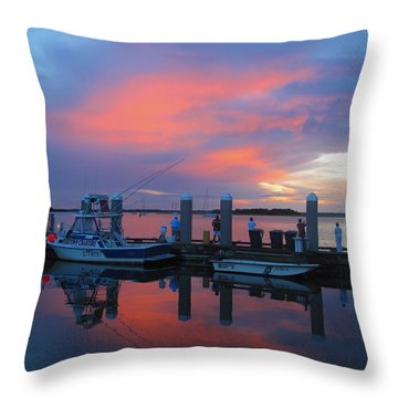 Amelia's Marina Throw Pillow