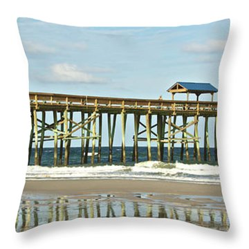 Amelia's Pier Throw Pillow