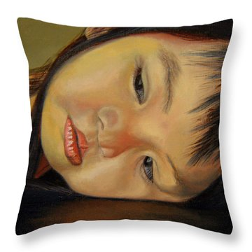 Amelie-an 12 Throw Pillow by Thu Nguyen