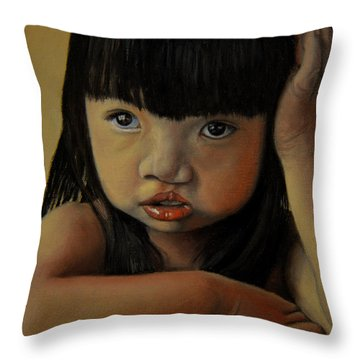 Amelie-an 3 Throw Pillow by Thu Nguyen