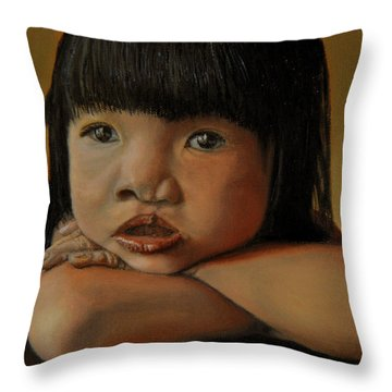 Amelie-an 4 Throw Pillow by Thu Nguyen