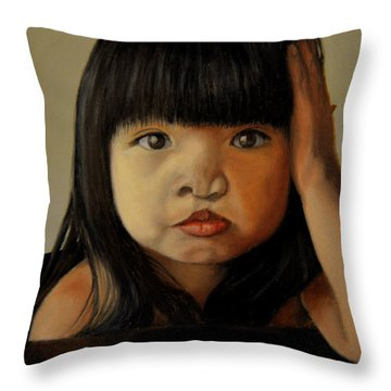 Amelie-an 5 Throw Pillow by Thu Nguyen