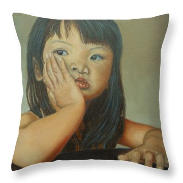 Amelie-an 6 Throw Pillow by Thu Nguyen