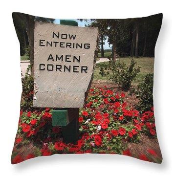 Amen Corner - A Golfers Dream Throw Pillow