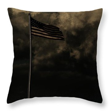 Throw Pillow featuring the photograph America....... by Jessica Shelton