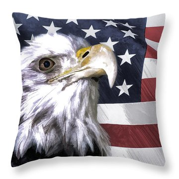 Throw Pillow featuring the photograph America by Linda Blair