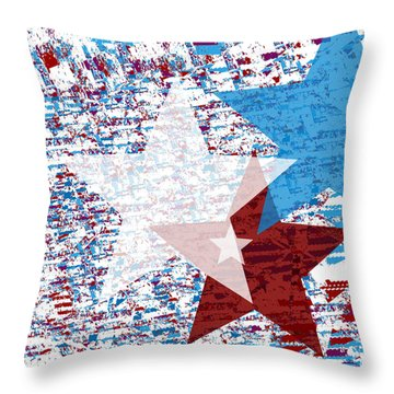 America Stars Throw Pillow