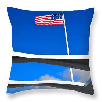 America Strong Throw Pillow