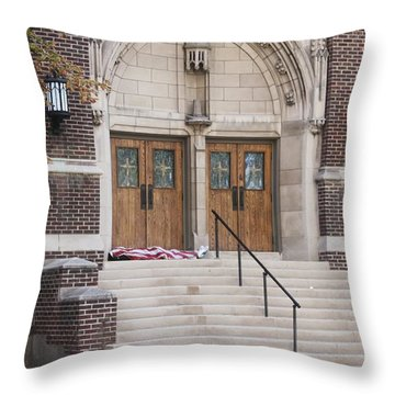 Throw Pillow featuring the photograph America The Beautiful by Janice Rae Pariza