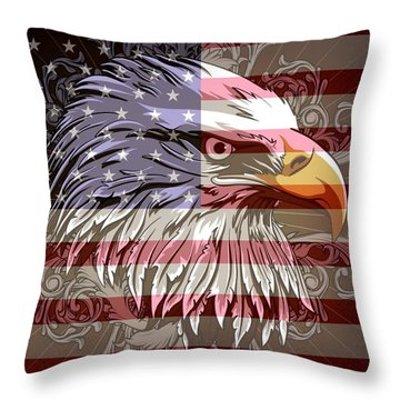 America The Beautiful Throw Pillow by Stanley Mathis