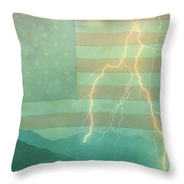 America Walk The Line  Throw Pillow by James BO  Insogna