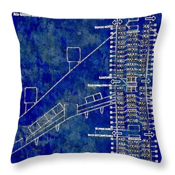 American Airlines 747 Throw Pillow by Daniel Janda