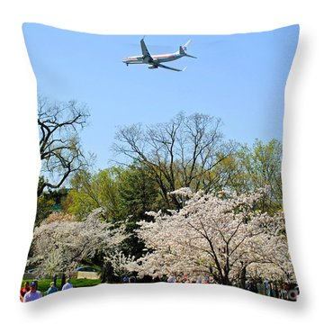 American Airlines Throw Pillow by Jost Houk