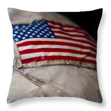 American Astronaut Throw Pillow by Christi Kraft