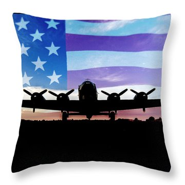 American B-17 Flying Fortress Throw Pillow