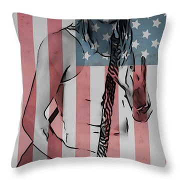 American Badass Throw Pillow by Dan Sproul