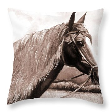 American Beauty Antique Throw Pillow by Shana Rowe Jackson