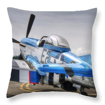 Throw Pillow featuring the photograph American Beauty by Jeff Cook