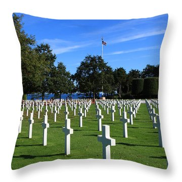 American Cemetery Normandy Throw Pillow