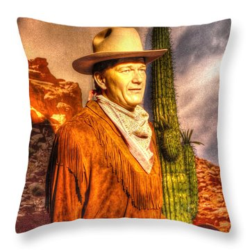 American Cinema Icons - The Duke Throw Pillow