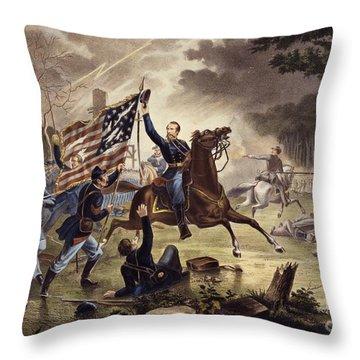 American Civil War General   Philip Kearny Throw Pillow by American School