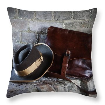 American Civil War Hat And Sack Throw Pillow