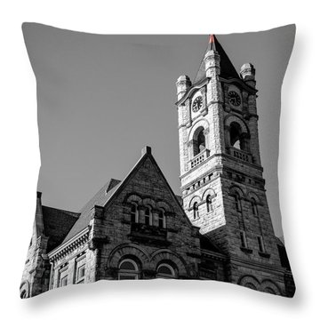 American Courthouse Throw Pillow