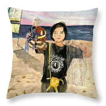 American Dream Girl Throw Pillow