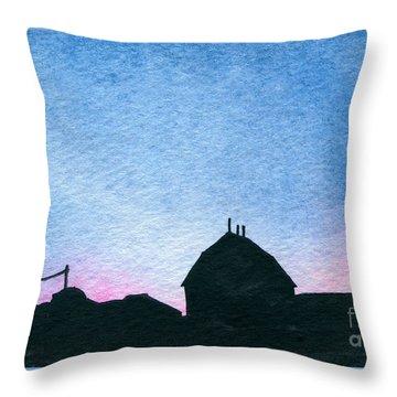 American Farm #1 Silhouette Throw Pillow