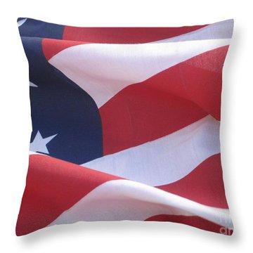 Throw Pillow featuring the photograph American Flag   by Chrisann Ellis