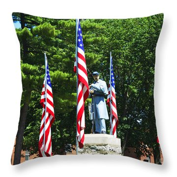 American Flag - Civil War Memorial -  Luther Fine Art Throw Pillow by Luther Fine Art