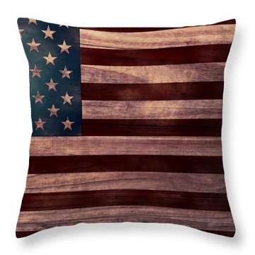 American Flag I Throw Pillow