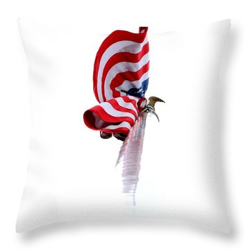 Throw Pillow featuring the photograph American Flag by Kenny Glotfelty