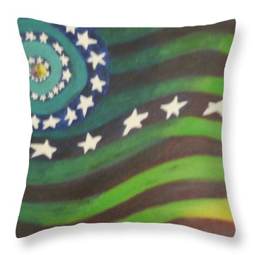 American Flag Reprise Throw Pillow